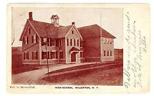 Millerton NY - HIGH SCHOOL BUILDING - Myron Puff Postcard