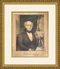 Martin Van Buren , Eighth President , 1835 Campaign Poster Framed Repro
