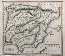 1828 Antique Map; Spain & Portugal - L. Hebert