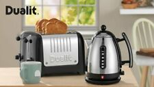 Dualit Lite 4 Slice Toaster 46205 + 1.5L Jug Kettle 72010 Black - BRAND NEW