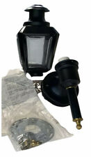 Coach Light Outdoor Fixture Black Metal And Glass Vintage New Old Stock