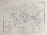 1855 World Zoological Mammals Chart by Augustus Petermann