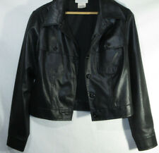 1990's Jacket Xoxo Coat Shiny Chic Vintage 90s Lightweight Black Made in Usa S