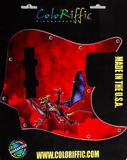 US RED DRAGON PICKGUARD FITS AMERICAN JAZZ BASS