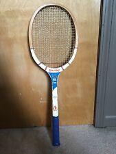 "Vintage Spalding Pancho Gonzales Pro Champ Wooden Tennis Racket 4-1/2"" grip"
