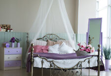 Classic White Mosquito Net  Resort Style Bedroom Canopy - Fits all Beds One Size