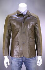 NWT New * KITON * $10,400 Brown Lambskin Leather Zip Front Bomber Jacket 40/M