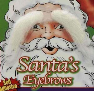 Snow White Santa Claus Eyebrows Stick on Costume Accessory Self Adhesive Old Man