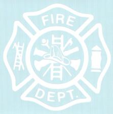 #158 FIRE DEPARTMENT Rear Window Decal Tribal Sticker