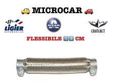 FLESSIBILE SCARICO MARMITTA MICROCAR MINICAR LIGIER 26cm INT 25MM