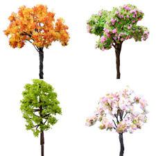 Mixed 10 pcs Flower Trees Model Train Garden Scenery Landscape HO Scale