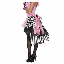 Women's Harlequin Clown French Saloon Marionette Doll Costume Bustle Skirt Black