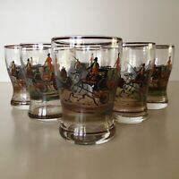 Detailed Stenciled Glasses // Set Of Six // 4 oz. // Beautiful Set !!!