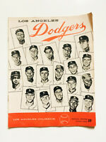 Rare Vintage 1958 Los Angeles Dodgers Baseball Official Program Score Card