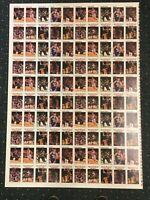 1991-92 Hoops Card Michael Jordan Bulls Tribune Finals Factory Uncut Sheet Rare!