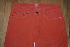 Bonobos Washed Cords ORANGE 100% Cotton Slim Fit Jeans / Men's Tag 32/30