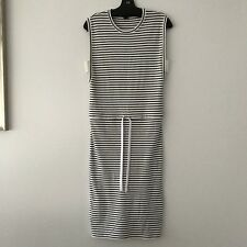 Theory Striped Dress With Elastic Waist 100% Cotton