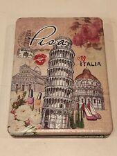 Cosmetic Compact Folding Dual Mirror - Pisa Italia Souvenir - New