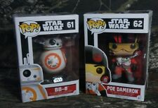 POP Star Wars BB-8 #61 & Poe Dameron #62 Vinyl Bobble-Head Figure CK