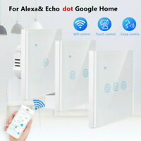 1/2/3 Gang EU WIFI Smart Wall Light Touch Panel Switch For Alexa Google IFTTT