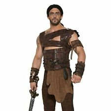 Faux Leather Armor and Belt Barbarian Warrior Costume Accessory - Standard