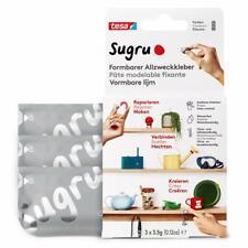 Tesa Sugru Colla modellabile di tesa, adesivo forte per 3 x 3,5 g, grigio