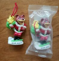 2 Vintage Sugar Bear Christmas Ornaments Santa Claus 1993 Kraft Foods 1 is new