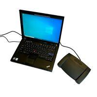 Lenovo Thinkpad 250GB Windows 10 Laptop & Infinity Foot Pedal Transcriber Kit