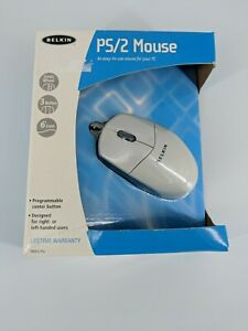 BELKIN PS/2 MOUSE 2 Button 6'Cord Right Left Handed PC CD Software Programmable