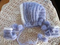 """DARLING BOOTIES&BONNET MADE FOR 18"""" TINY TEARS BETSY WETSY EFFANBEE OR SIMILIAR"""