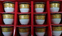 12 Pcs  Ceramics Turkish/Arabic Coffee/Espresso Cups Set GAWA CUP Set nice colo
