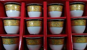 12 Pcs  Ceramics Turkish/Arabic Coffee/Espresso Cups Set GAWA CUP Set