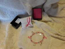 Avon Breast Cancer Crusade Charm bracelet new in box