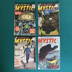 Atlas Early Silver Age Mystic Lot Of 4 Comic Books #41, #54 ,#56, #59  1955-56