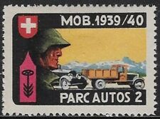 Switzerland Soldier stamp: Parkdienst Supply Units, PAR #3: Parc.Autos.2- sw135a