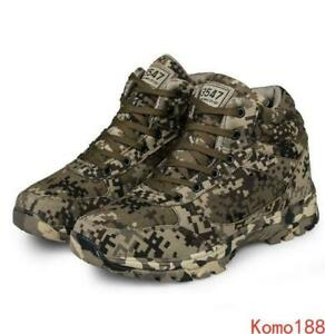 Men's camouflage Army Combat Tactical War Boots hiking Tactical Boots
