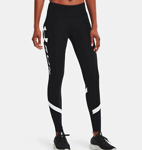 Under Armour Womens UA Mileage Tights 1362233-001 Black/White Sizes XS - S NWT