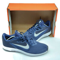Nike Men's Downshifter 9 Navy/Platinum Running Shoes Size 10 NWB X-WIDE 4E