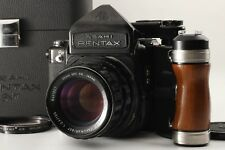 【Near MINT】 Pentax 6x7 TTL 67 Mup + SMC TAKUMAR 105mm Lens Grip Case Japan 1012