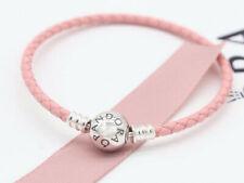Authentic Pandora Bracelet Pink Single Woven Ball Clasp #590745CMP MULTIPLE SIZE