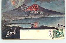 NAPOLI - Surréalisme - Volcans en éruption humanisés - Richter & Co