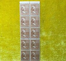 Nanee-Bus Stamps Scott 805 Paine Of 10, 1 1/2 Ct. M. Washington 1937 Mognh A48