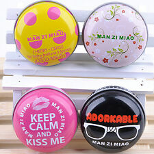 4pcs Tin Packaging Beeswax Moisturizing Lip Balm Chapstick Dry Chapped Lips