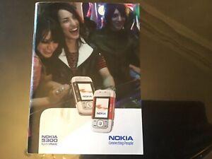 Original Nokia 5300 flip phone Manual Guide. NO PHONE JUST  GUIDE BOOKLET