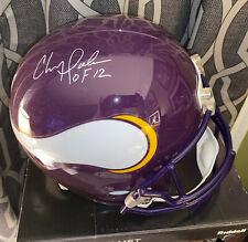 Chris Doleman Signed AUTO MINNESOTA VIKINGS Full Size REPLICA Helmet Radtke COA
