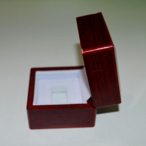 One Hole Wooden Glass Display Box for  Cup Championship Ring