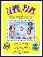 Liberia History USA Unabhänigkeitstag Block 1976, History