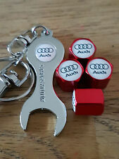 AUDI RED DUST VALVE CAPS SPANNER LIMITED ALL MODELS RETAIL PACKED S LINE RS TT