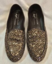 Donald J Pliner Denny Women's Shoes Loafers Slip Ons US Size 7.5 M Brown Glitter