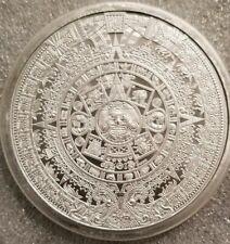 Silver - 5 oz Aztec Calendar Round